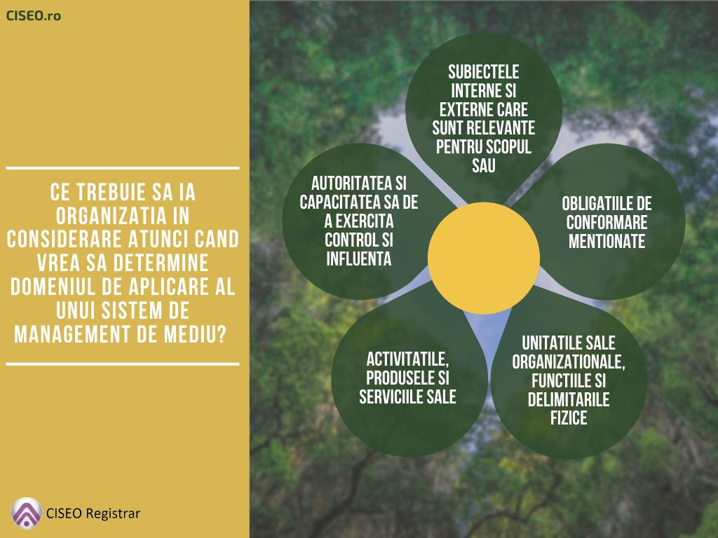 domeniul de aplicare al unui sistem de management de mediu