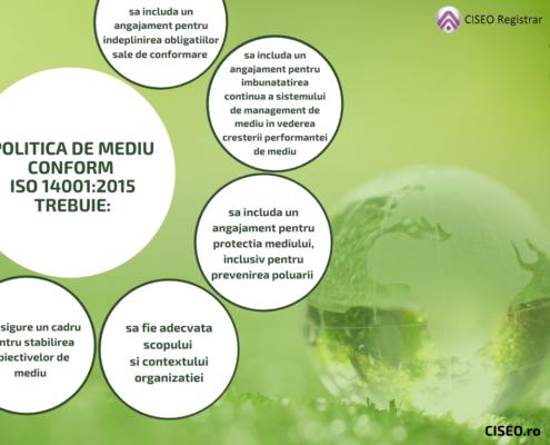 Politica de mediu conform ISO 14001:2015