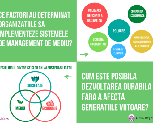 Ce factori au determinat organizatiile sa implementeze Sistemele de Management de Mediu
