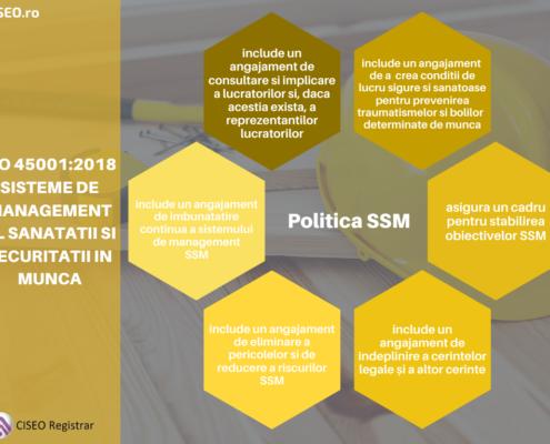 Politica SSM conform ISO 45001:2018