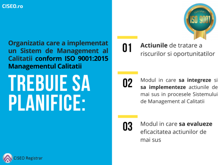 planificare ISO 9001